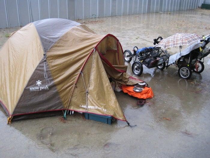 歩き人ふみの徒歩世界旅行 日本・台湾編-テント周辺