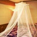 ロマンチック お姫様 天蓋/シングルベッド用 【送料無料】 【ロマンティック】蚊帳【あす楽対応】
