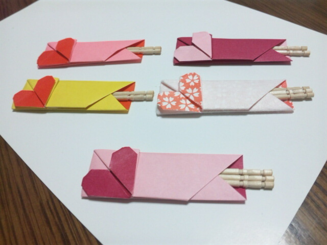 ハート 折り紙 折り紙 写真入れ : ameblo.jp