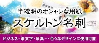 名刺作成・名刺印刷・名刺 デザイン 名刺ブログ-名刺 名刺デザイン スケルトン名刺