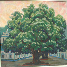 修道院内のツリー