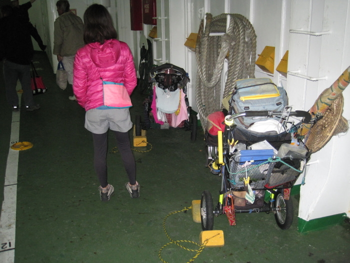 歩き人ふみの徒歩世界旅行 日本・台湾編-フェリー内