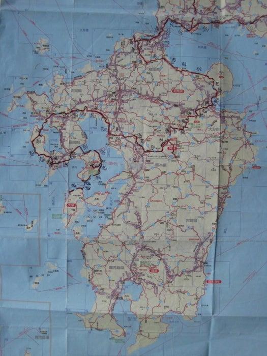 歩き人ふみの徒歩世界旅行 日本・台湾編-九州ルート図