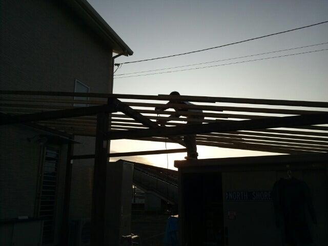 自転車置き場の屋根DIY ...
