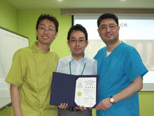 2010年1月、Dr.Woo、Dr.Wonと一緒に(韓国)