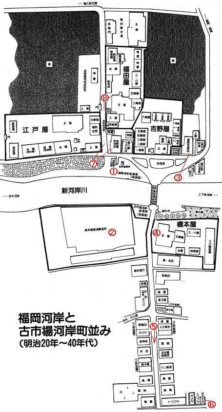 街や交通網の盛衰を記録する....警「美」報 告 書 ☆彡   ▼CAMMIYA-上福岡の明治後期街並み全体図