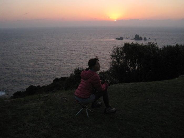 歩き人ふみの徒歩世界旅行 日本・台湾編-日が沈む