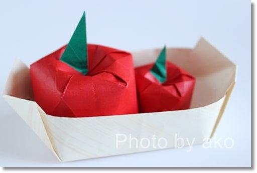 ハート 折り紙:折り紙 りんご 折り方-divulgando.net