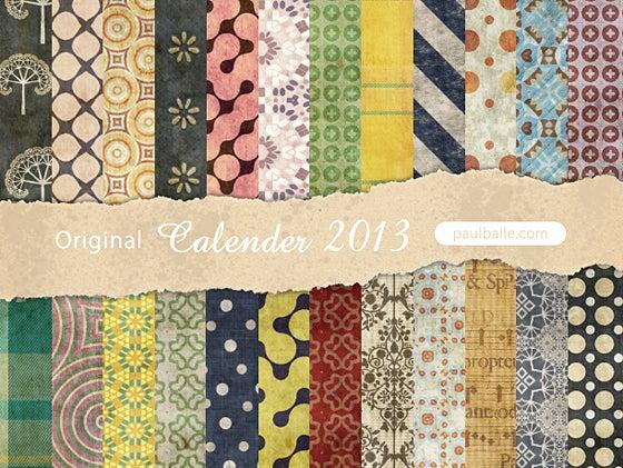 paulballe オリジナル2013年カレンダー(両面柄付き)