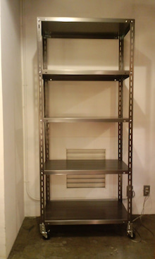 $SCRAP STUDIO PRODUCTS-Brushed Steel Shelf