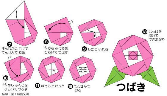 ハート 折り紙:椿折り紙折り方-ameblo.jp