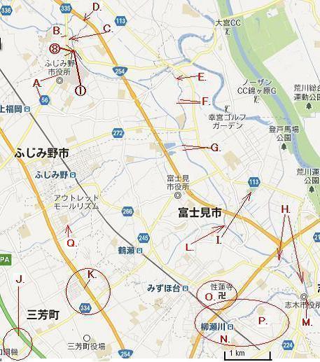 街や交通網の盛衰を記録する....警「美」報 告 書 ☆彡   ▼CAMMIYA-上福岡ぽた広域MAP