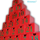 予約販売【毎年使える!】クリスマスツリーのアドベントカレンダー♪『国産お菓子入り♪』