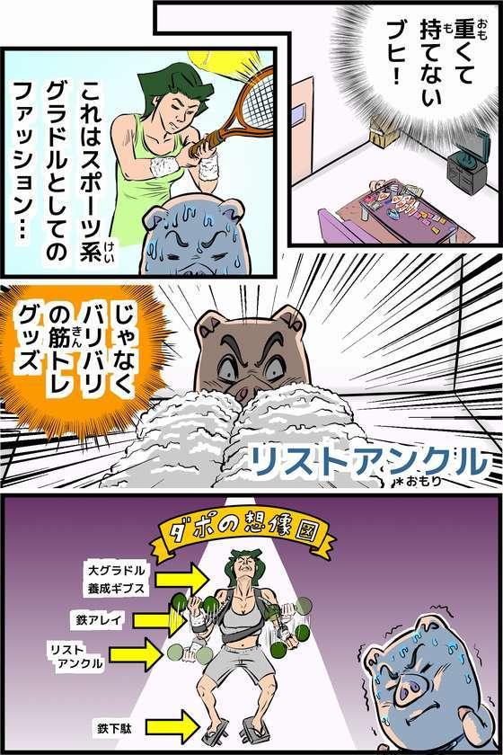4コマ漫画『ダン子ちゃんが行く!!』-20121110 リストバンドの秘密 P12目