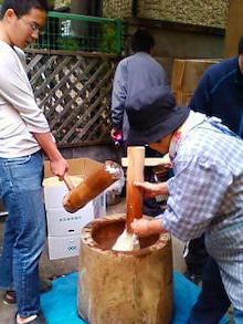コミュニティ・ベーカリー                          風のすみかな日々-餅つき