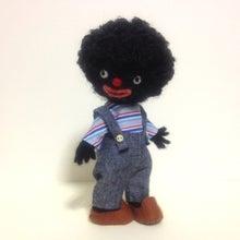 羊毛フェルト人形「wawa」-ゴリウォーグ 羊毛フェルト人形
