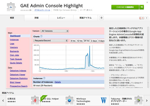 CA Beat エンジニアのブログ-GAE Admin Console Highlight