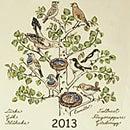 almedahls (アルメダールス) テキスタイルカレンダー2013 バード
