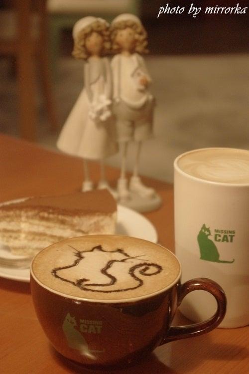 中国大連生活・観光旅行ニュース**-大連 Coffee & More Missing cat