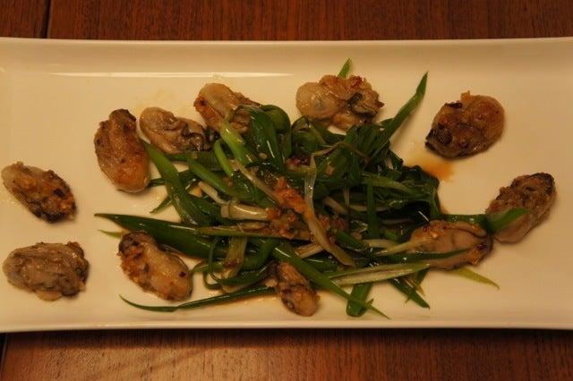 玄米花子のお料理レシピ-牡蠣のペペロンチーノ