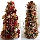 クリスマス 木の実のツリー♪ クリスマスツリー クリスマス ツリー ドライフラワー 赤 ナチュラル