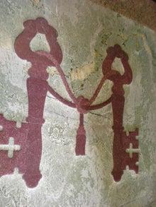 夫婦世界旅行-妻編-壁のレリーフ