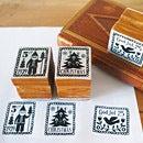 DECOLE/デコレ クリスマスの切手スタンプ