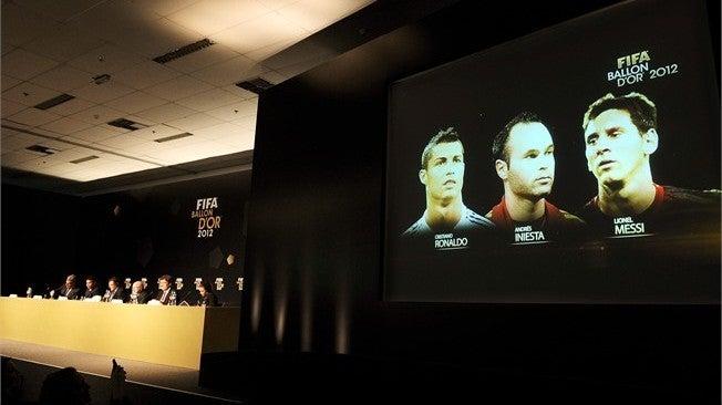 FIFAバロンドール 最終候補