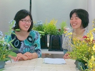 心の枠を外すフラワー&カラーセラピー「 ラ・フォリア」@大阪・松屋町-明るいラ・フォリアでの二人
