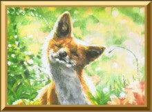 ペットと飼い主さんの肖像画家Erico(エリコ)の動物油絵館-キタキツネ