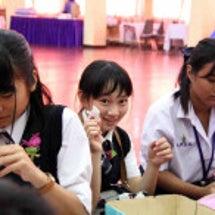 日本の中学との文化交…