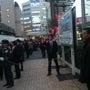 告示2日目の浦和駅前…