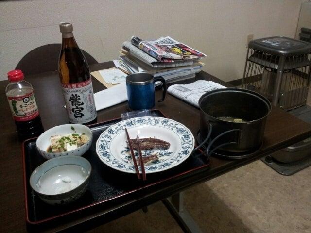 $歩き人ふみの徒歩世界旅行 日本・台湾編-事務所で夕食