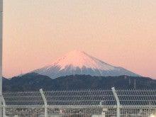 ノアのブログ-夕焼けの富士山