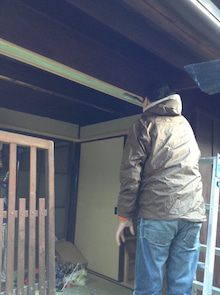 京町家を買って改修する男のblog-色塗り