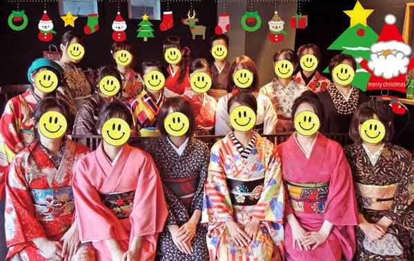 $東京で着物ライフを楽しむ会 ~東京きものライフ~-クリスマスパーティー集合写真☆