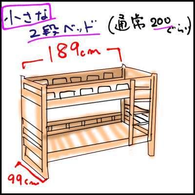 コンパクトな2段ベッドなら狭い子供部屋にも置ける border=