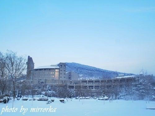 中国大連生活・観光旅行ニュース**-大連の雪景色 軟件園