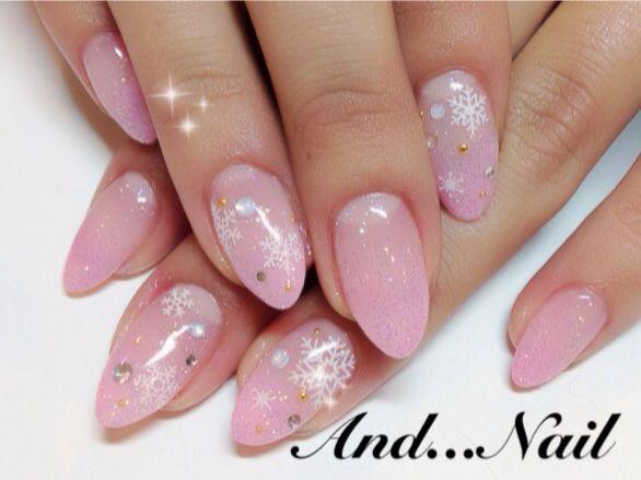 ★2012イチゴピンクの雪の結晶ネイル★|★白川麻里★神戸☆ネイルサロンANDNAIL(アンドネイル)MARIのブログ