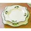 【ポルトガル製】オリーブ柄(OLIVE)スープ皿23cm【白い食器】