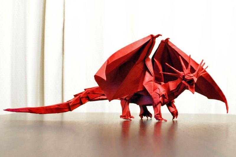折り 折り紙 折り紙ドラゴンの作り方 : ameblo.jp