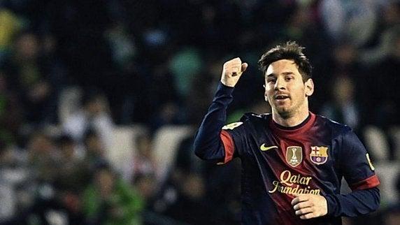 バルセロナ メッシ 年間ゴール 新記録 90