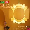 【ALBA:アルヴァ】【VITA:ヴィータ】北欧風デザイナーズペンダントライト|可愛い花をモチーフにしたデザイン|北欧モダンデザイン|ナチュラル|ホテルライク|モノトーン|ホワイト|ダイニング|リビング|照明|ライト【FS_708-7】【H2】