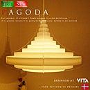 【PAGODA:パゴダ】【VITA:ヴィータ】北欧風デザイナーズペンダントライト|ヤコブソンを彷彿させるグラデーション|北欧モダンデザイン|ナチュラル|ホテルライク|モノトーン|ホワイト|ダイニング|リビング|照明|ライト