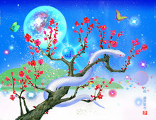 $開運絵画アート制作販売:光と癒しのファンタジーアート-年賀状イラスト、巳年