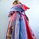 COLORIQUE/カラリク タッセル付き♪ミックスプリントキルト【Laundry Plaid Mixed Print Tassel】【キルトブランケット】【肌がけ】【マルチカバー】【レビューを書いて送料無料♪】