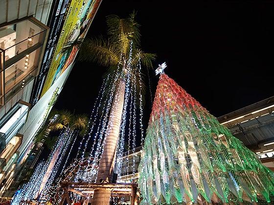 四六時中タイ旅行に行きたい!-サヤーム駅前のクリスマスツリー