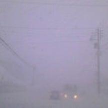 現在は猛吹雪