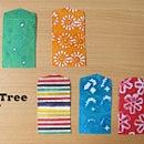 People Tree・バティックプリントのポチ袋(5色セット)【フェアトレード】【メール便可】