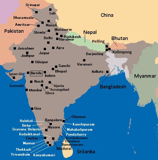 $画像ブログ『駐在員のインド漫録』-地図